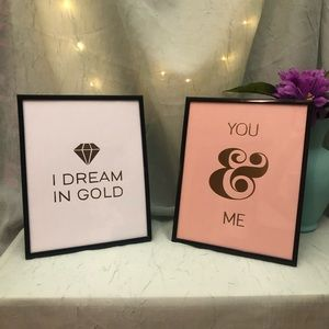 Two framed wall decor